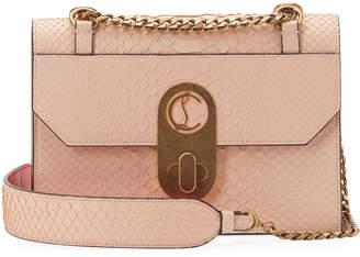 Christian Louboutin Elisa Python-Print Leather Shoulder Bag