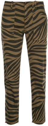 Nili Lotan Slim-Fit Animal Print Trousers