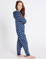 Marks and Spencer Pure Cotton Star Print Onesie (1-16 Years)