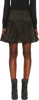 Giambattista Valli Black Mesh and Silk Layered Clove Skirt