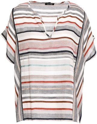 Love Sam Striped Gauze Top