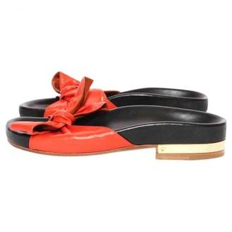 Chloé Orange Leather Sandals
