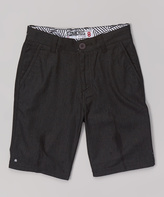 Micros Black Sand Walk Shorts - Boys