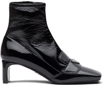 Prada Technical Patent Leather Boots