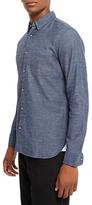 Jaeger Brushed Cotton Shirt, Chambray