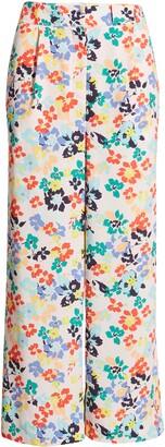 Halogen x Atlantic-Pacific Pleat Detail Print Pants