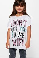 Boohoo Girls Wifi Tee