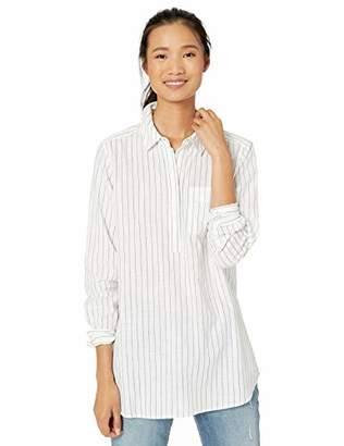 Goodthreads Washed Cotton Popover Tunic Shirt,XS