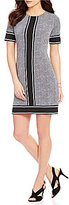 MICHAEL Michael Kors Stingray Border Print Matte Jersey Shift Dress
