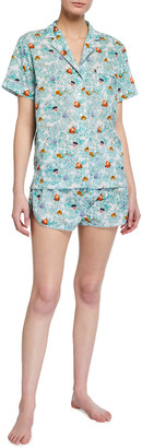 Roller Rabbit Head Tails Lulu Printed Short Pajama Set