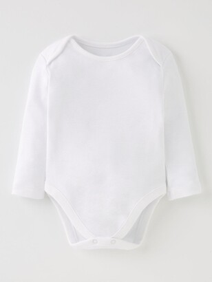 Very Baby Unisex 5 Pack Long Sleeve Bodysuits - White