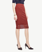 Ann Taylor Tulip Lace Pencil Skirt
