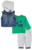 Little Me Infant Boy's Denim Vest, T-Shirt & Pants Set