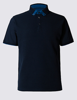 Limited Edition Pure Cotton Textured Polo Shirt