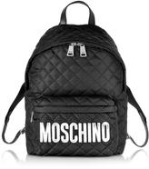 Moschino Black Nylon Backpack