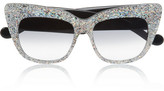 Karlsson Anna-Karin Alice Goes to Cannes cat eye glittered-acetate sunglasses