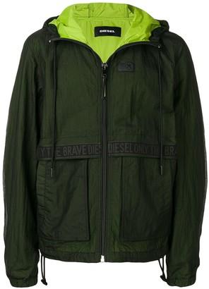 Diesel hooded lightweight jacket
