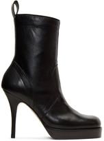 Rick Owens Black Classic Stiletto Boots