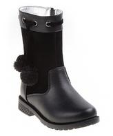 Josmo Black Pom-Pom Boot