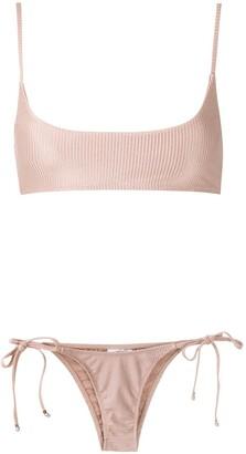 AMIR SLAMA Ribbed Bikini Set