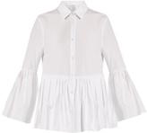 Stella Jean Isterica ruffled cotton-poplin shirt