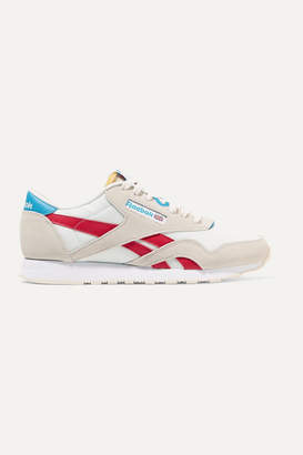 Reebok Classic Mesh, Suede And Leather Sneakers - White