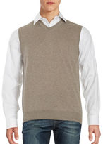 Black Brown 1826 Merino Wool Sweater Vest