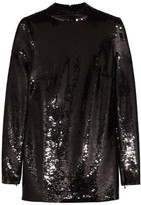 Tom Ford Sequined Stretch-chiffon Tunic - Black