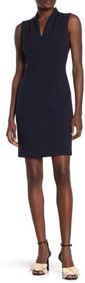 T Tahari V-Neck Sheath Dress
