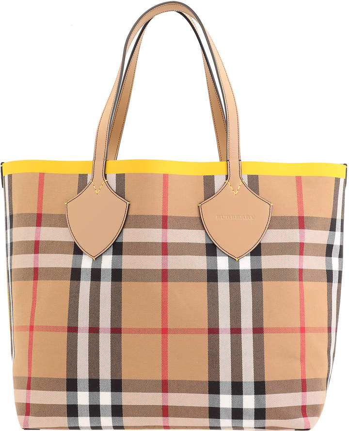 53165e8fd Burberry Yellow Tote Bags - ShopStyle