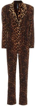 Norma Kamali Leopard-print jumpsuit