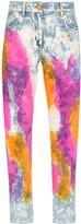 Versace tie-dyed jeans