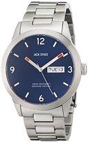 Jack Spade Men's WURU0102 Glenwood Analog Display Swiss Quartz Silver Watch