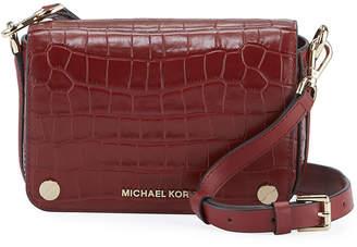 MICHAEL Michael Kors Jet Set Small Croco Flap Crossbody Bag