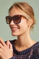 Anthropologie Tortoise Colorblock Square Sunglasses