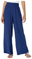 Tommy Bahama Caicos Crinkle Smocking Pants (Island Navy) Women's Casual Pants
