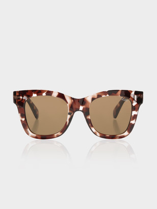 Quay Womens After Hours Sunglasses in Tortoiseshell Finish with Brown Lenses