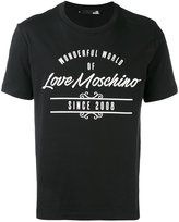 Love Moschino logo print T-shirt - men - Cotton - S