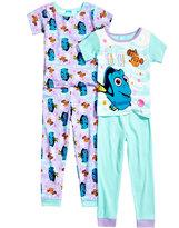 Disney 4-Pc. Finding Dory Cotton Pajama Set, Toddler Girls (2T-5T)