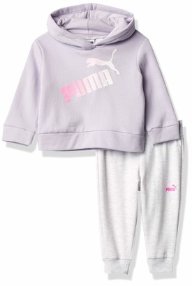 Puma Baby Girls' Pullover Hoodie & Jogger