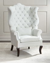 Haute House Pantages Leather Wing Chair