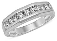Bloomingdale's Men's Diamond Band in 14K White Gold, 0 ct. t.w. - 100% Exclusive