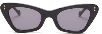 Zimmermann Tallow Cat-eye Sunglasses - Womens - Black