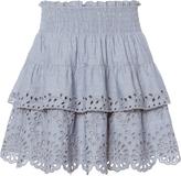 St. Roche Juno Chambray Eyelet Skirt