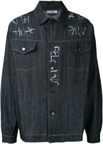 Selfmade By Gianfranco Villegas - embroidered denim jacket - men - Cotton - 52