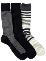 Cole Haan Multi-Striped Crew Socks - Pack of 3