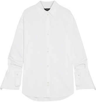 Ellery Evelyn Oversized Cutout Cotton-poplin Shirt