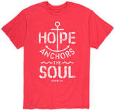 Instant Message Mens Men's Tee Shirts HEATHER - Heather Red 'Hope Anchors the Soul' Tee - Men