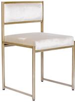 Ave Home Carlyle Side Chair - Ivory Velvet frame, matte brass; upholstery, ivory