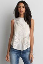 American Eagle Outfitters AE Lace Panel Keyhole Tank